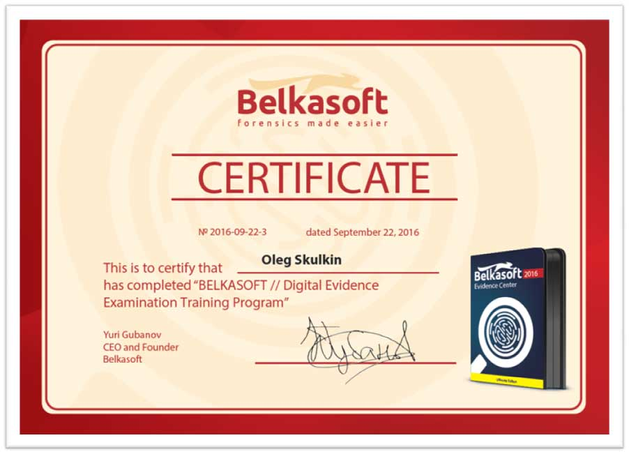 Certifications Digital Forensics Corporation Digital Forensics