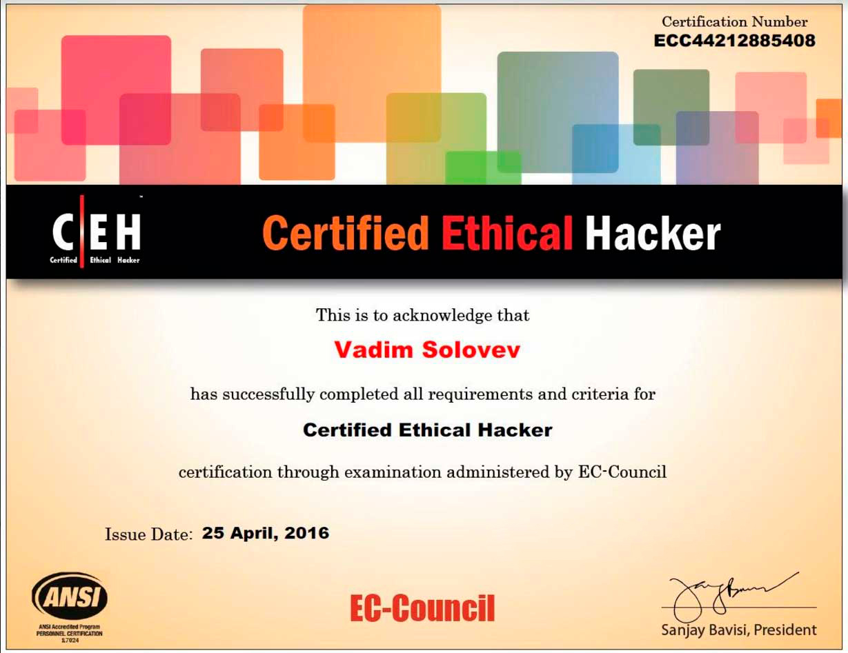 Comprehensive Ethical Hackers