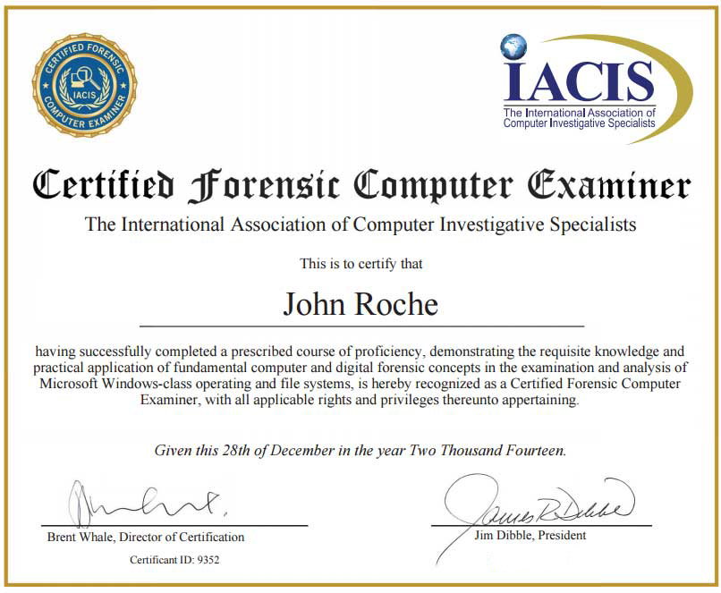 Certified Forensic Computer Examiner - Certifications - Digital ...