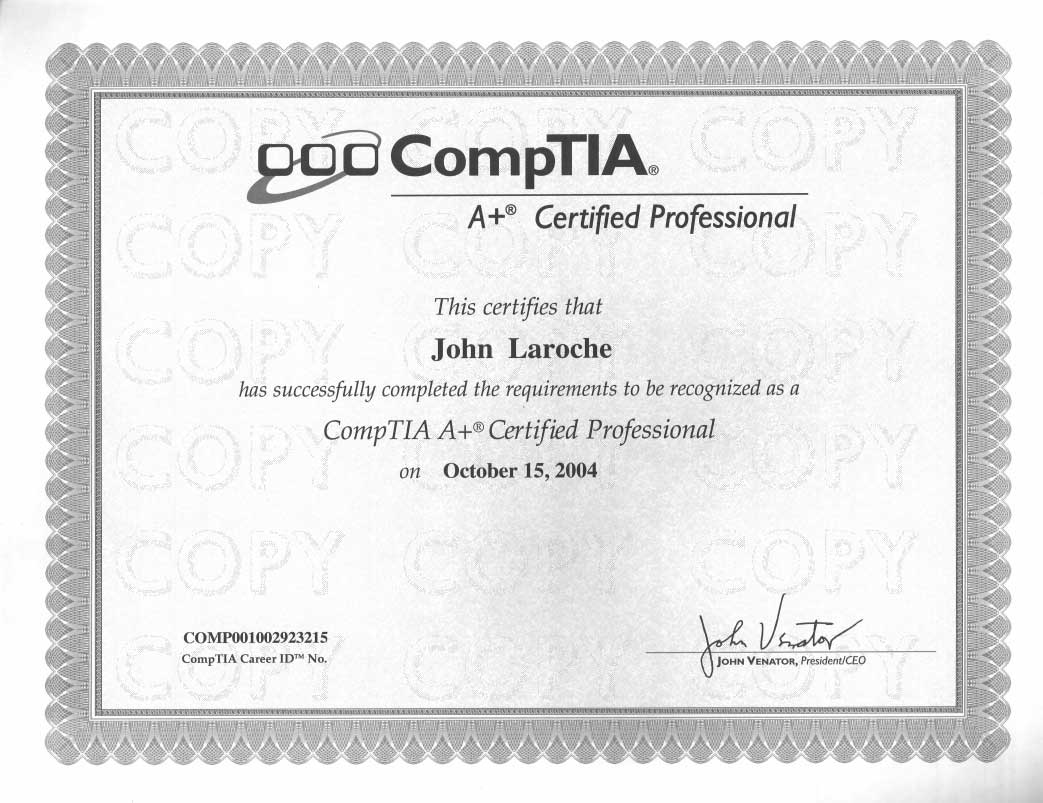 CompTIA A+ Certified Experts