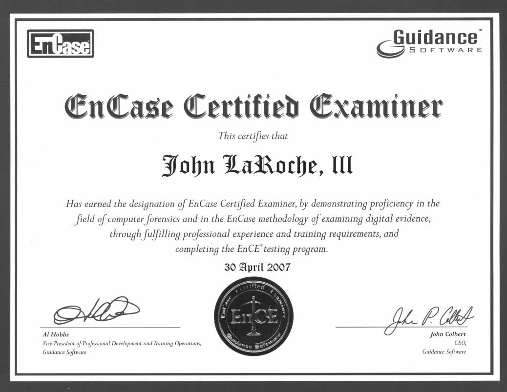 EnCase Certified Experts